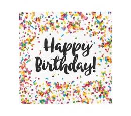 "Salvetes ""Skaidiņa. Happy Birthday"" (16 gab)"