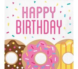 """Salvetes """"Virtuļi. Ar dzimšanas dienu"""" (16 gab.)"""
