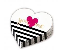 "Salvetes ""You & Me"" sirds formā (12 gab)"