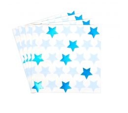 """Salvetes """"Zilas zvaigznītes"""" (16 gab)"""