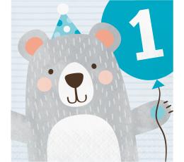 """Salvetes """"Lāčuks. Pirmā dzimšanas diena (16 gab)"""