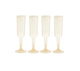 Šampanieša glāzes, zelta spīdīgas (4gab)