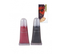 Sejas grims, sarkans - melns (2 gab. / 11 ml)