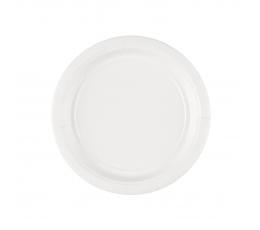 Šķīvīši, balti (8 gab./17 cm)