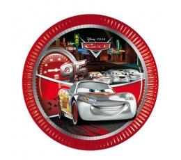 """Šķīvīši """"Cars Silver Edition"""" (8 gab/ 20 cm)"""