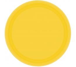 Šķīvīši, dzelteni (8 gab./17 cm)