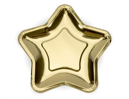 "Šķīvīši, formīgi ""Zelta zvaigznītes"" (6 gab/ 23 cm)"