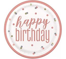 "Šķīvīši ""Happy Birthday"" (8 gab./22 cm)"