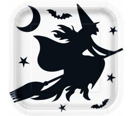 """Šķīvīši """"Helovīna ragana"""" (8 gab/22 cm)"""