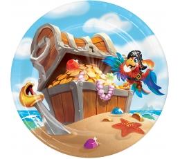 """Šķīvīši """"Jūras pirāti"""" (8 gab/18 cm)"""