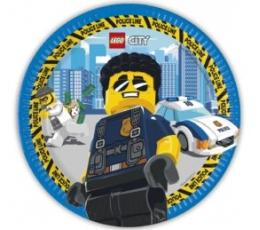 """Šķīvīši """"Lego City"""" (8 gab./23 cm)"""