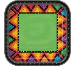 """Šķīvīši """"Meksika"""" (8 gab/ 22 cm)"""