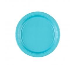 Šķīvīši, okeāna krāsas (8 gab/ 17 cm)