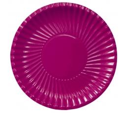 Šķīvīši, paliktņi, burgundijas krāsā (8 gab/ 29 cm)