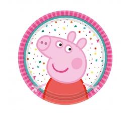 "Šķīvīši ""Peppa Pig"", rozā (8 gab/18 cm)"