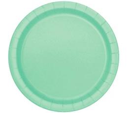 Šķīvīši, piparmētras krāsā (20 gab/17 cm)