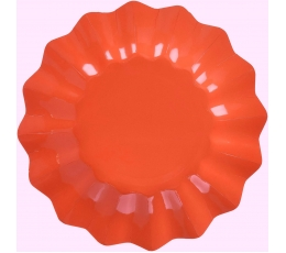 Šķīvīši-puķes, spilgti sarkanas  (8gab/21cm)