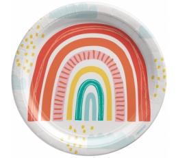 """Šķīvīši """"Retro varavīksne"""" (8 gab. / 22 cm)"""