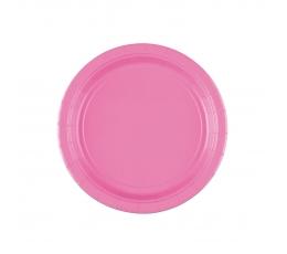 Šķīvīši, rozā  (8 gab./17 cm)