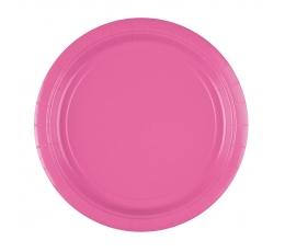 Šķīvīši,rozā (8 gab./22 cm)