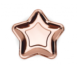 "Šķīvīši ""Rozā - zelta zvaigznes"", formīgas (6 gab./18 cm)"
