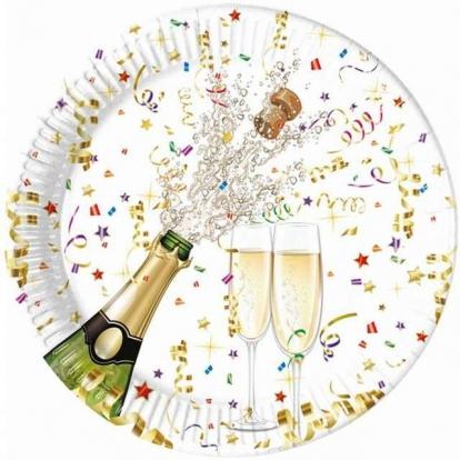 "Šķīvīši ""Šampanietis"" (8 gab/ 23 cm)"