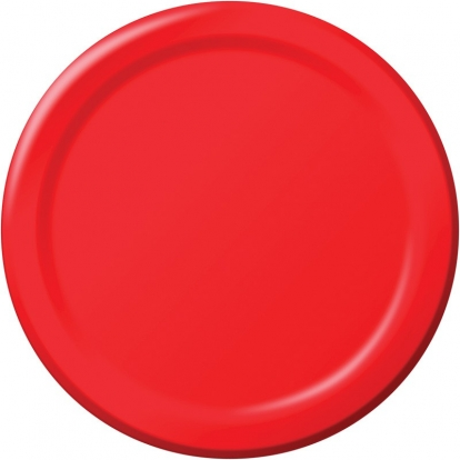 Šķīvīši, sarkani (8 gab/22 cm)
