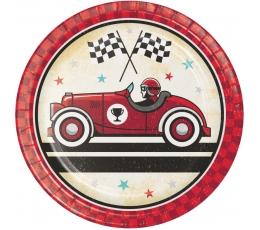 """Šķīvīši """"Senās auto sacensības"""" (8 gab./17 cm)"""