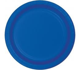 Šķīvīsi, spilgti zili (8 gab/17 cm)
