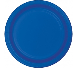 Šķīvīši, spilgti zili (8 gab /22 cm)