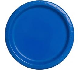 Šķīvīši, spilgti zili (8 gab./22 cm)
