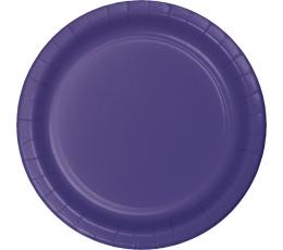 Šķīvīši, violeti (8 gab /17cm)