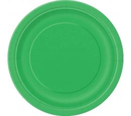 Šķīvīši, zaļi (8 gab/17 cm)