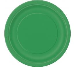 Šķīvīši, zaļi (8 gab. / 22 cm)