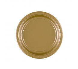 Sķīvīši, zelta (8 gab./17 cm)
