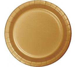 Šķīvīši, zelta (8 gab./22 cm)