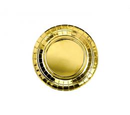Šķīvīši, zelta spīdīgi  (6 gab/18 cm)
