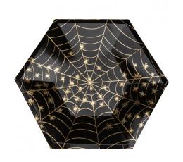 """Šķīvīši """"Zelta zirnekļa tīkls"""" (8 gab./23 cm)"""