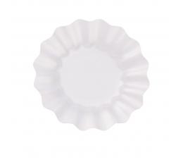 Šķīvīši-ziediņi, balti perlamutra (8 gab/21 cm)