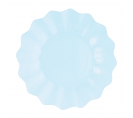 Šķīvīši-ziediņi, gaiši zili (8 gab/21 cm)- eko