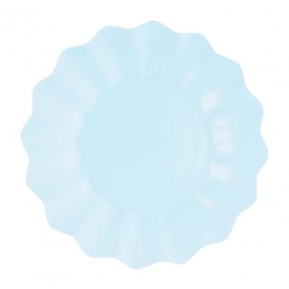 Šķīvīši-ziediņi, gaiši zili (8 gab/27 cm)- eko