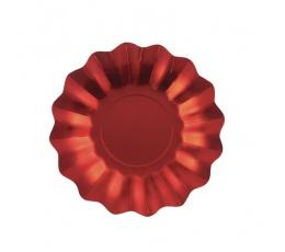 Šķīvīši-ziediņi, sarkanā krāsā (8 gab./27 cm)