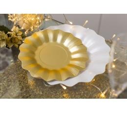 Šķīvīši-ziediņi, zelta krāsā (8 gab/21 cm)