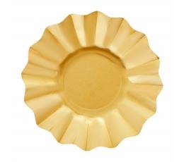 Šķīvīši-ziediņi, zelta krāsā (8 gab/27 cm)