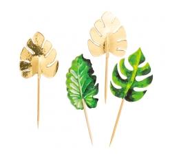 """Irbulīši-dekorācijas """"Zelta palmas"""" (10 gab/10 cm)"""