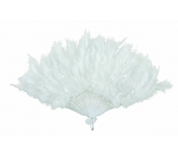Spalvu vēdeklis, balts (43 cm)