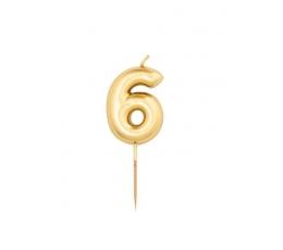 """Svecīte""""6"""", zelta (8 cm)"""