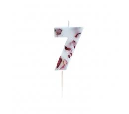 """Svecīte""""7"""", ar ziedlapiņām"""
