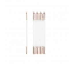 Svecītes, baltas - rozā-zelta (10 gab./15 cm)