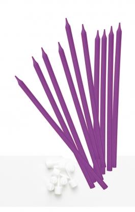 Svecītes, garas violetas (10 gab)